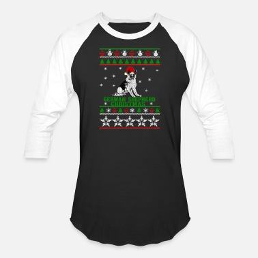 Christmas sweater for German Shepherd lover - Unisex Baseball T-Shirt