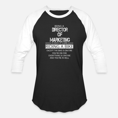 Marketing Director of Marketing - Unisex Baseball T-Shirt