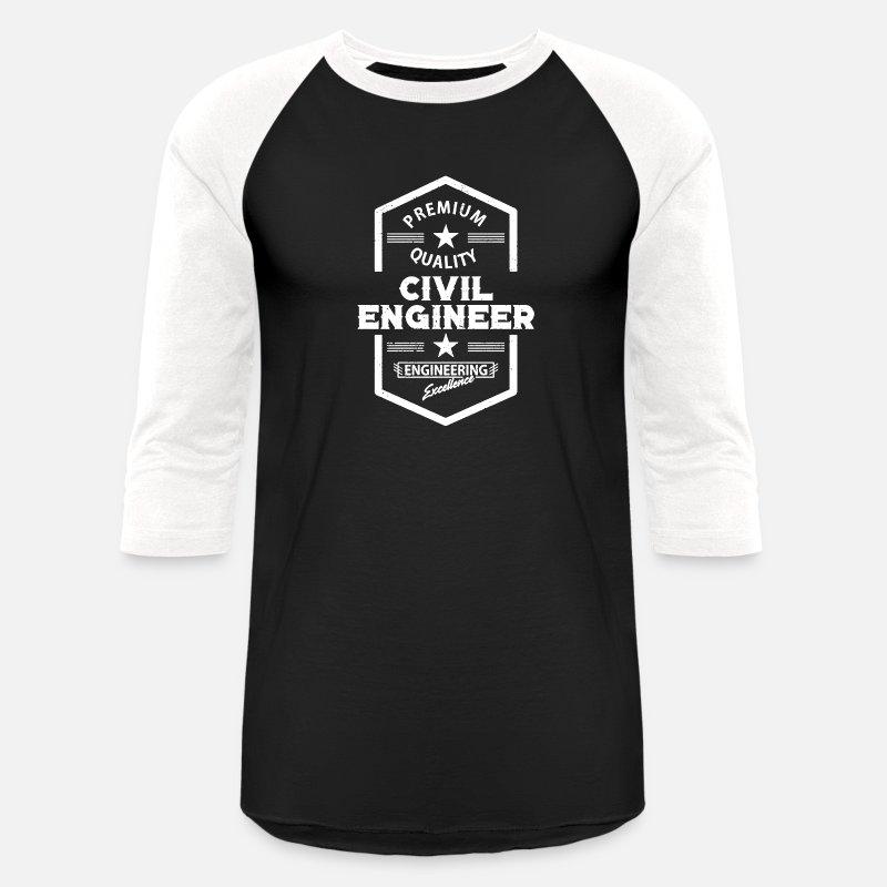 1f39294a Civil Engineering T-Shirts - Civil Engineer Funny Shirt - Unisex Baseball T- Shirt