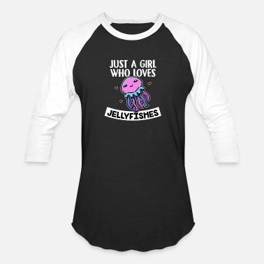 Idea Just A Girl Who Loves Jellyfishes Cute Costume - Unisex Baseball T-Shirt