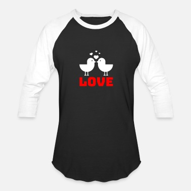 Love Birds Love Birds - Unisex Baseball T-Shirt