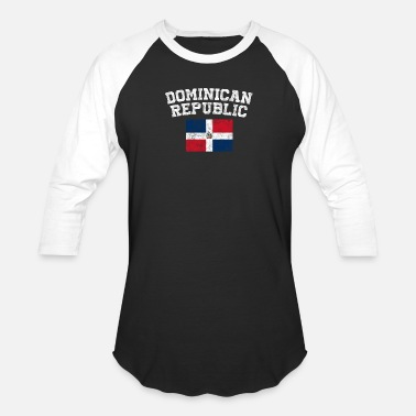 Dominican Republic Kids Dominican Flag Shirt - Vintage Dominican Republic - Baseball T-Shirt