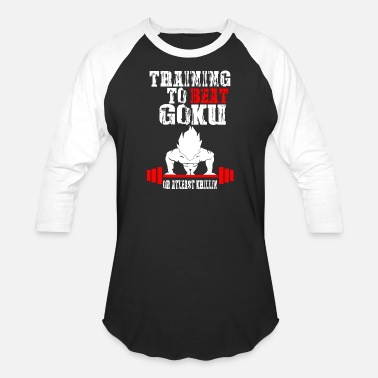 Beat Goku - Training To Beat Goku Funny Gag Shirt Fro - Baseball T-Shirt