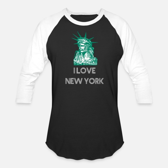 Love T-Shirts - I love New York Design - Unisex Baseball T-Shirt black/white