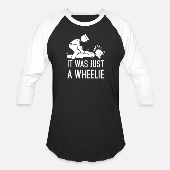 Wheelie T-Shirts - Legalize Wheelies - Unisex Baseball T-Shirt black/white