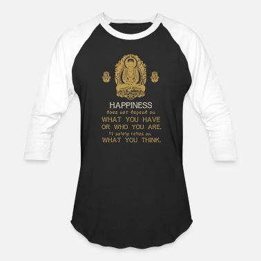 Buddhism Buddha - buddhism - buddha with quote for buddhi - Unisex Baseball T-Shirt