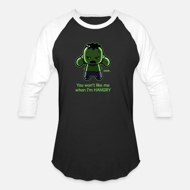 Funny Hulk The Hangry Hulk - Unisex Baseball T-Shirt
