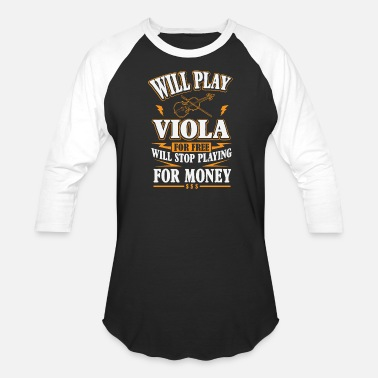 Country Guitar - will play viola for free, stop for mon - Baseball T-Shirt