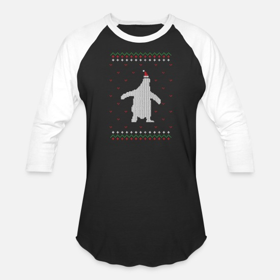 Baby T-Shirts - Santa Christmas Ugly Tee - Unisex Baseball T-Shirt black/white