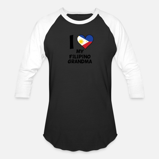 Love T-Shirts - I Heart My Filipino Grandma - Unisex Baseball T-Shirt black/white