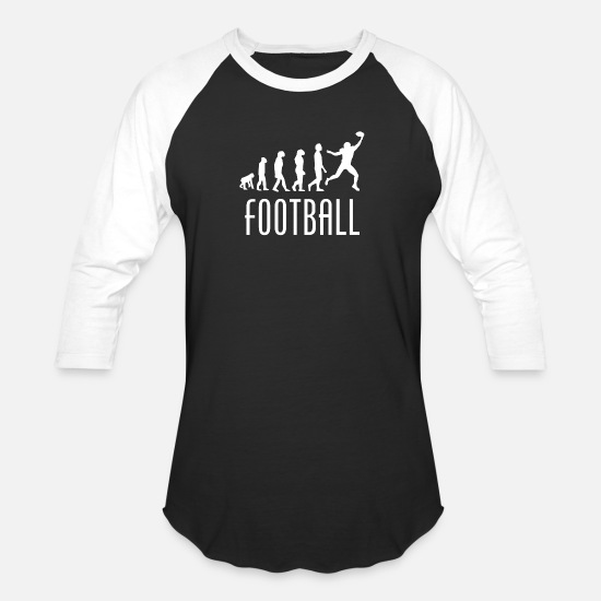 Wide Receiver T-Shirts - Football Evolution Wide Receiver - Unisex Baseball T-Shirt black/white
