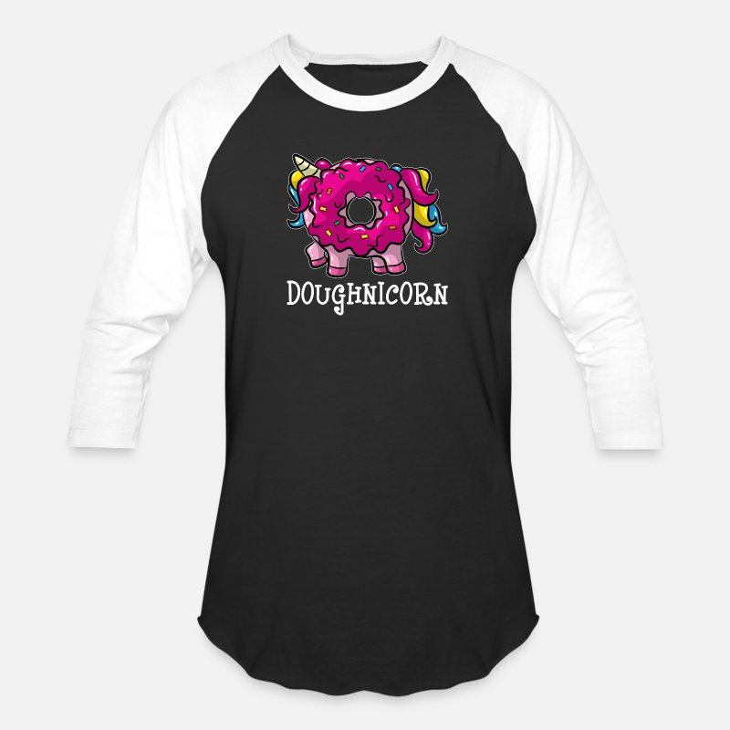 ba479bcbd8f3 Fantasy T-Shirts - Donut Unicorn For Sweet Snack Unicornio Lovers - Unisex Baseball  T