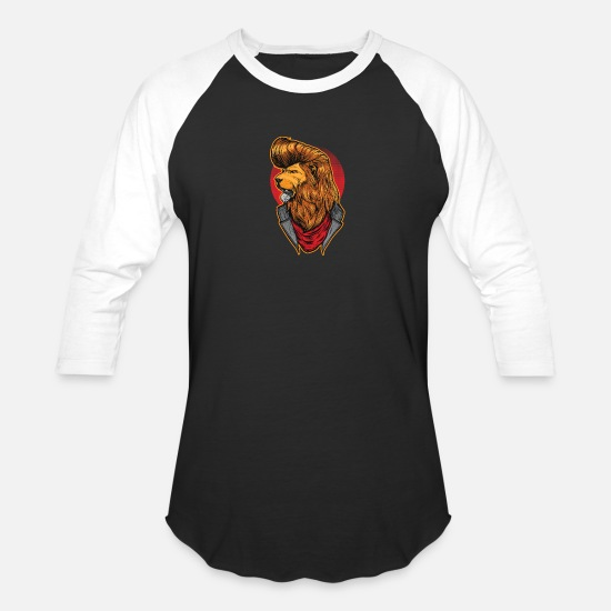 Agent T-Shirts - Modern Lion - Unisex Baseball T-Shirt black/white