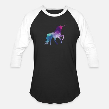 Rainbow Galaxy Unicorn Galaxy unicorn - Unisex Baseball T-Shirt