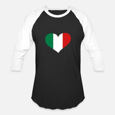 Italy Heart; Love Italy - Unisex Baseball T-Shirt