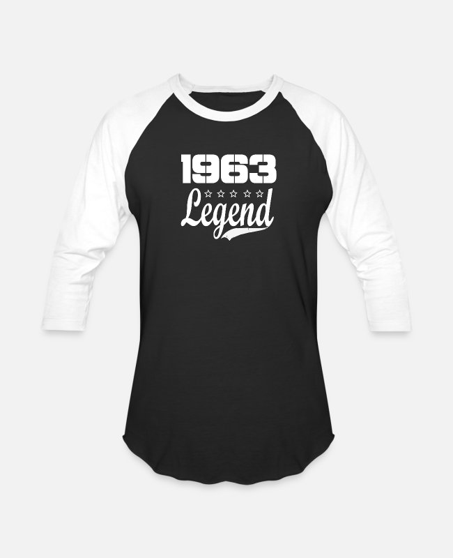 1963 T-Shirts - 63 legend - Unisex Baseball T-Shirt black/white