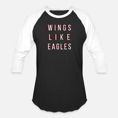 Isaiah Wings Like Eagles - Unisex Baseball T-Shirt