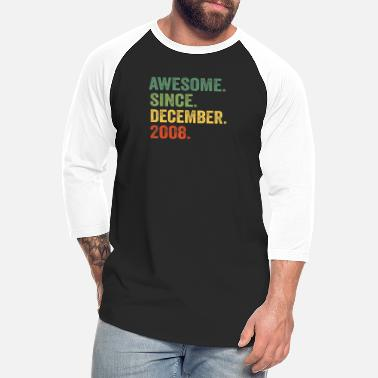 O-11 Awesome Since December 2008 11th Birthday 11 Yrs O - Unisex Baseball T-Shirt