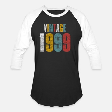 Born In 1999 20 Years Birthday 20th Celebrate 1999 Vintage - Baseball T-Shirt