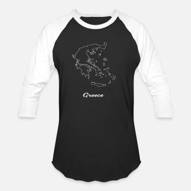 Greece Map Greece Map Map - Baseball T-Shirt
