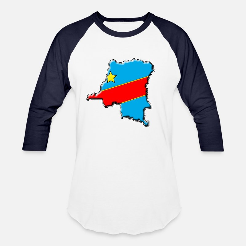 eeda2b429 Congo - Congo Flag map Unisex Baseball T-Shirt