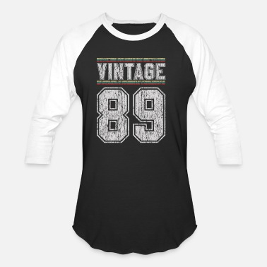 Jersey Number 30th Birthday - Vintage 1989 Funny Gift - Unisex Baseball T-Shirt