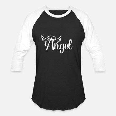 Angel Angel angel with wings - Unisex Baseball T-Shirt