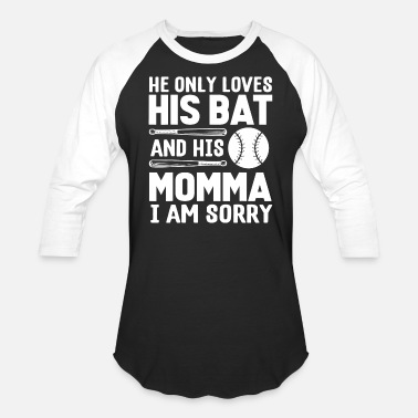 2f7856969f Funny Baseball Mom Love Bat Momma Baseball Mom - Unisex Baseball T-Shirt