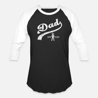 Dad Est. 2020 New Baby - Unisex Baseball T-Shirt