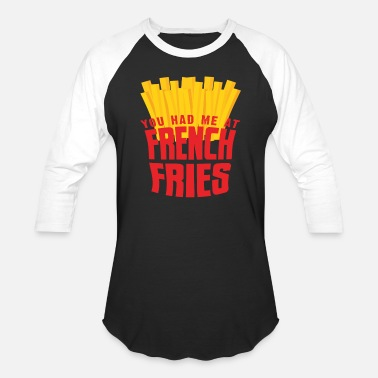 French Fries French Fries - Unisex Baseball T-Shirt