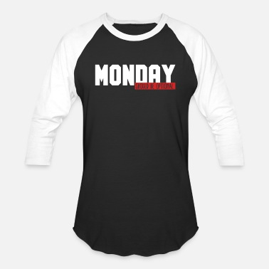 Monday Funny Monday Office Joke Monday Should Be Optional - Unisex Baseball T-Shirt