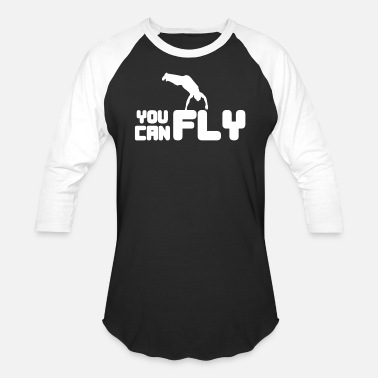 Parkour Awesome and Cool Parkour Tshirt Design You Can Fly - Baseball T-Shirt