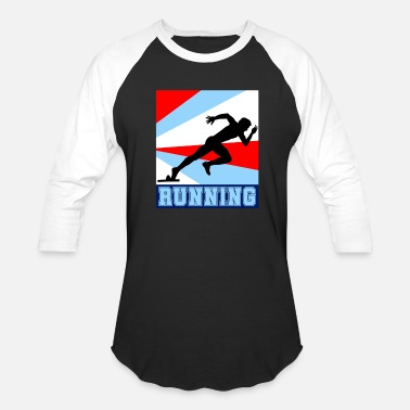 Sprinters Sprinter on the track - Baseball T-Shirt