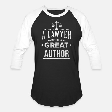 Law Student Lawyer Author Law Student Attorney Advocate Gift - Unisex Baseball T-Shirt