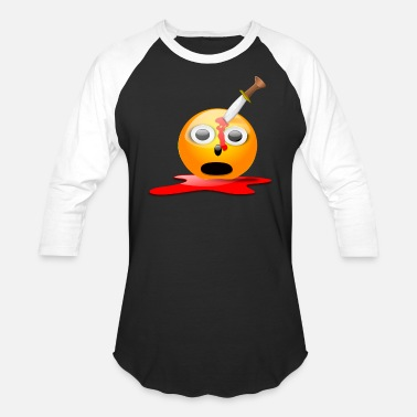 Halloween Smiley smiley halloween emoticon - Unisex Baseball T-Shirt