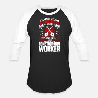 Construction Worker Forever The Title Construction Worker Tshirt - Unisex Baseball T-Shirt