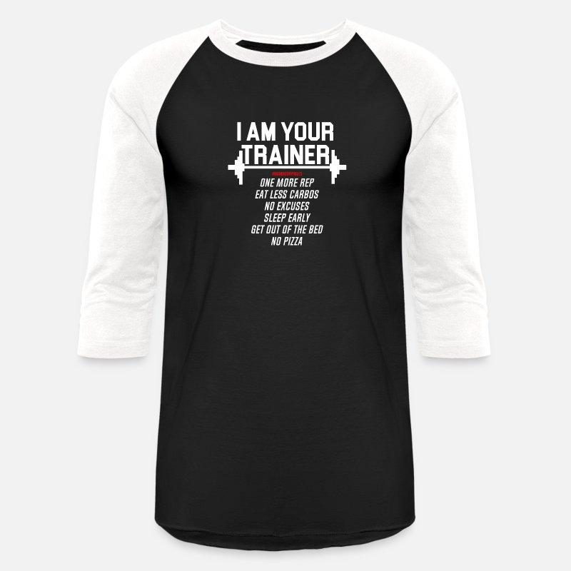 f6b6ecff Trainer T-Shirts - Personal trainer design funny tshirt - Unisex Baseball T- Shirt