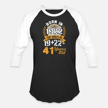1922 Born in 1922 Tshirt - Unisex Baseball T-Shirt