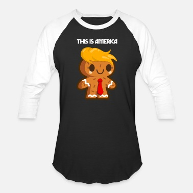 Christmas Trump Gingerbread trump christmas gift - Baseball T-Shirt