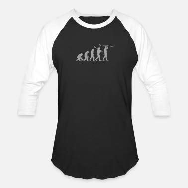 Surf Evolution - Unisex Baseball T-Shirt