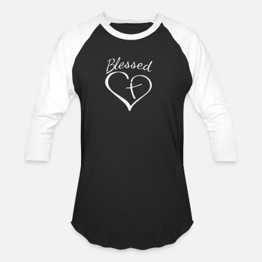 Blessed Home Blessed - Unisex Baseball T-Shirt