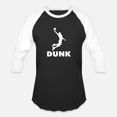Dunking Dunk it! Basketball Player Dunking - Unisex Baseball T-Shirt