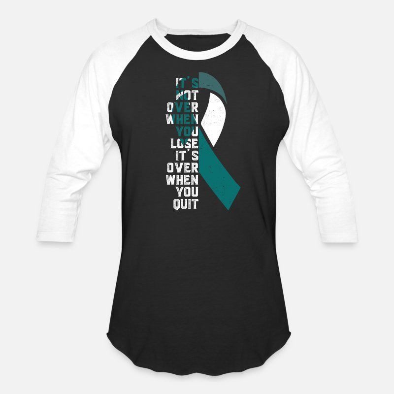 4a2ff4a0ba18d Cancer T-Shirts - It is Not Over - Cervical Cancer - Unisex Baseball T