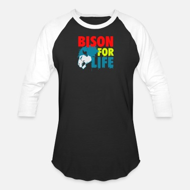 Bison Bison for life - Unisex Baseball T-Shirt