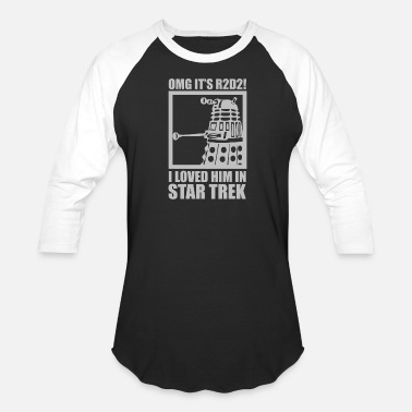Trek R2D2 Dalek Star Wars Dr Who Trek - Baseball T-Shirt