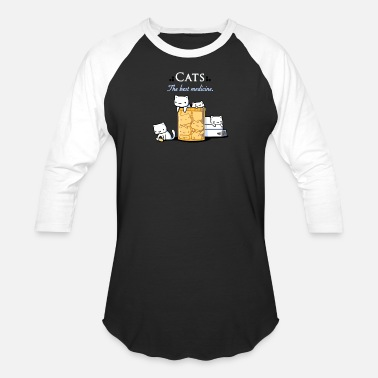 Medicine Cats are the Best Medicine - Baseball T-Shirt