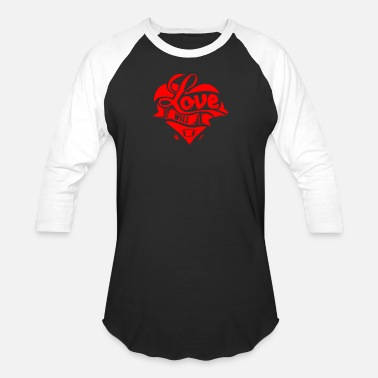 Healing Love Will Heal - Unisex Baseball T-Shirt
