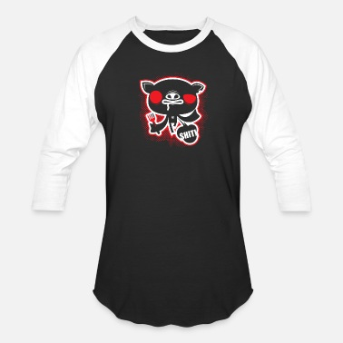 Bank crazy piggy - Baseball T-Shirt