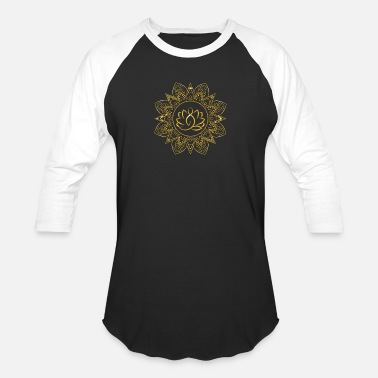 Lotus Position Lotus Yoga Mandala | Positive Vibes - Baseball T-Shirt
