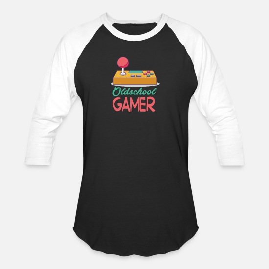 Gamer T-Shirts - gamer - Unisex Baseball T-Shirt black/white